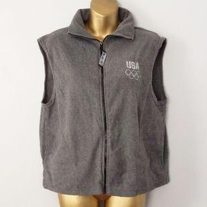 USA olympic grey sweater vest size large